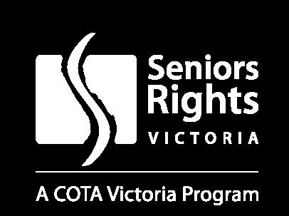 Seniors Rights Victoria White Logo